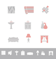 Home related icon set vector image vector image