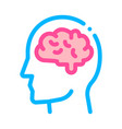 human brain in man silhouette mind icon vector image