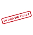 In God We Trust Text Rubber Stamp vector image vector image