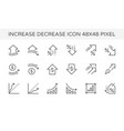 increase decrease icon vector image