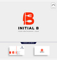 initial b food equipment simple logo template vector image vector image