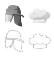 isolated object of headgear and cap sign vector image