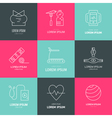 Line Fitness Icons vector image