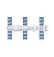 modern orbital space station isolated icon vector image vector image