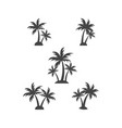 palm tree silhouette graphic design element vector image vector image