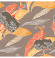 Petals and ewers pattern vector image vector image