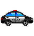 pixel police car detailed isolated vector image