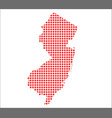 red dot map of new jersey vector image vector image