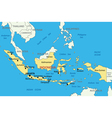 Republic of Indonesia - map vector image