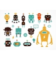 Robot cute icons and characters vector image vector image