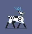 robot reindeer artificial intelligence concept vector image vector image