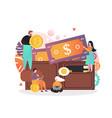 saving money concept for web banner vector image