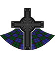 scottish celtic cross vector image vector image