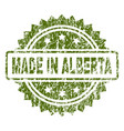 scratched textured made in alberta stamp seal vector image vector image