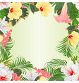 seamless border tropical flowers various vector image vector image