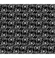 seamless pattern black white vector image vector image