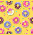 seamless pattern with colorful sweet donuts vector image