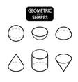 set of 3d geometric shapes isometric views