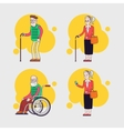 set of elderly characters older people vector image