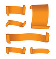 set of orange banners vector image