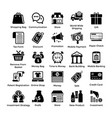 shopping icons set 1 vector image vector image