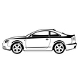 sport coupe vector image vector image