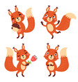 squirrel character vector image vector image