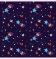 starry night at winter sky merry christmas holiday vector image