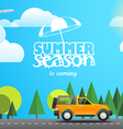Summer season flat design vector image vector image