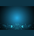 technology future polygon holding hand light bulb vector image vector image