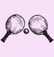 tennis ping-pong vector image vector image