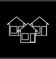 three house it is icon vector image vector image