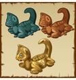three stone statue dragons image vector image