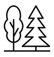 trees thin line icon 48x48 simple minimal vector image vector image