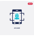 two color ar game icon from general-1 concept vector image vector image