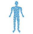 usb flash drive man figure vector image