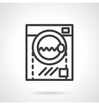 Washing machine black line design icon vector image