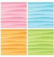 Set of Abstract Wavy Backgrounds Graphics vector image
