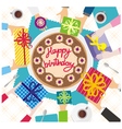 hands happy birthday vector image