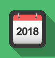 2018 calendar flat icon vector image vector image