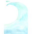 abstract blue ocean wave watercolor hand painting vector image