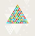 Abstract geometric Christmas tree vector image vector image