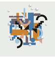 Background in cubism style vector image vector image