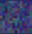 background of art colored dark blue squares mosaic vector image vector image