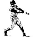 baseball hitter vector image vector image