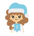 beauty girl celebrating merry christmas vector image
