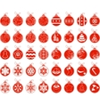 Big set with contour stylized Christmas balls vector image vector image