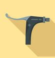 bike brake clamp icon flat style vector image