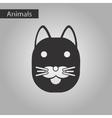 black and white style icon cat vector image