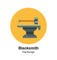 blacksmith flat icon vector image